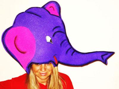 gorros de gomaespuma elefante