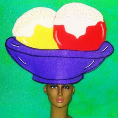 gorros de gomaespuma helado