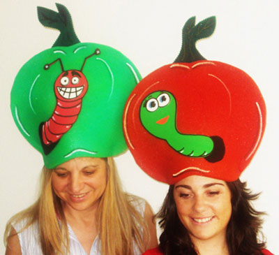 gorros de gomaespuma manzanas