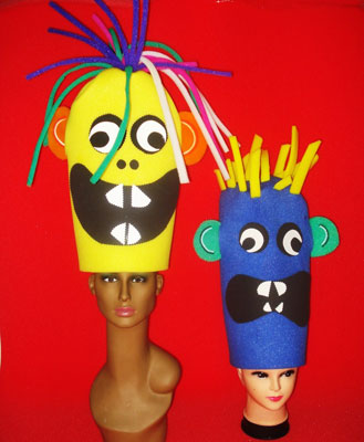 gorros de gomaespuma muñecos