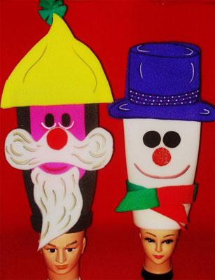 gorros de gomaespuma muñecos navidad