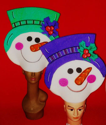 gorros de gomaespuma muñecos nieve