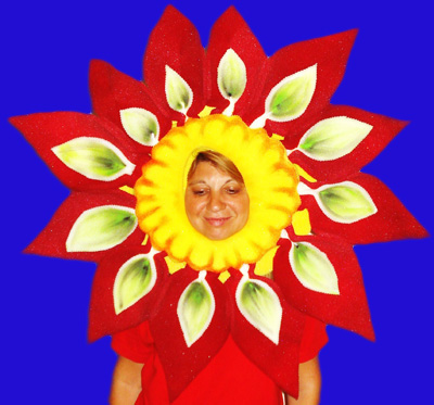 gorros de gomaespuma flor