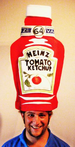 gorros de gomaespuma ketchup