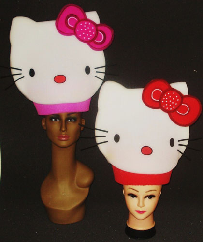 gorros de gomaespuma kitty