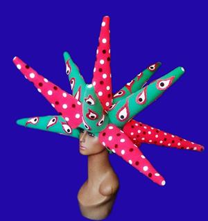 gorros de gomaespuma arlequin diseño