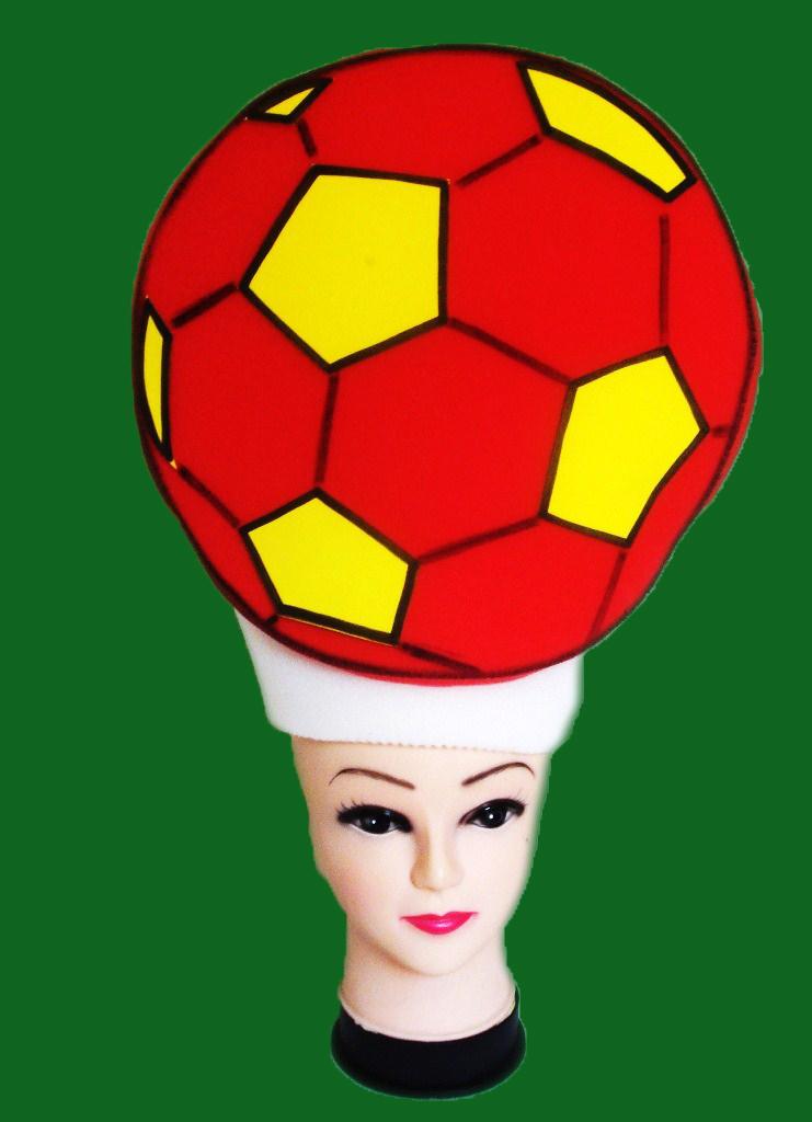 gorros de gomaespuma balon football