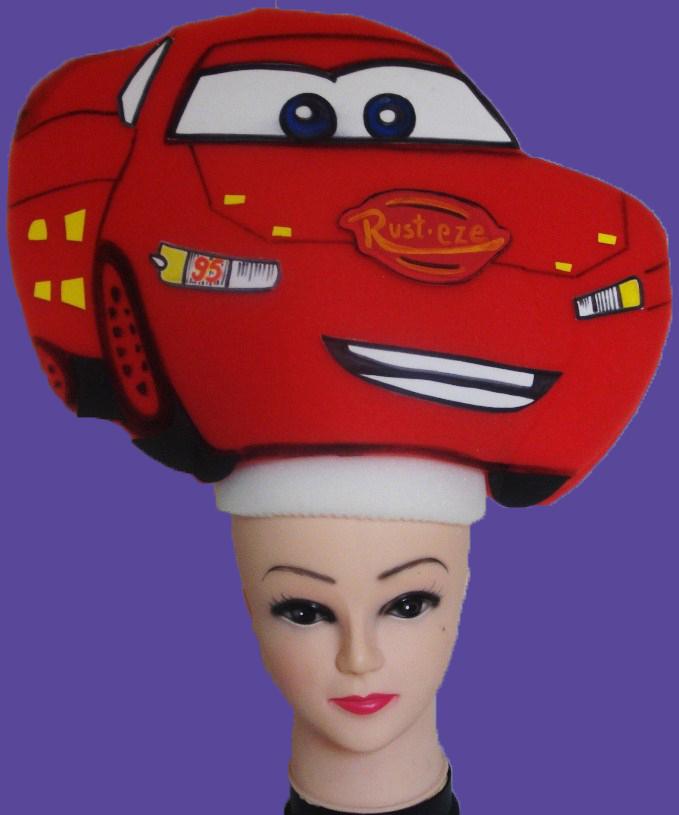gorros de gomaespuma cars