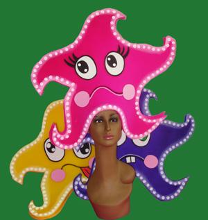 gorros de gomaespuma estrella de mar