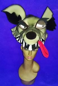 gorros de gomaespuma hiena 3D
