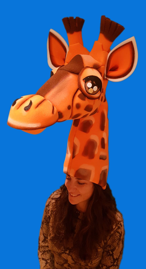 gorros de gomaespuma jirafa