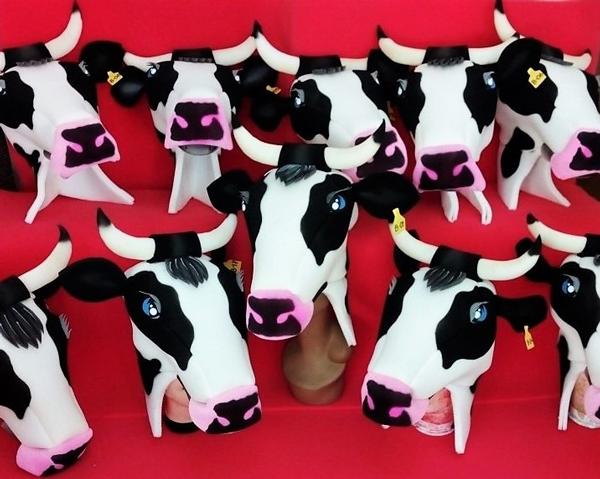 gorros de gomaespuma madagascar vacas