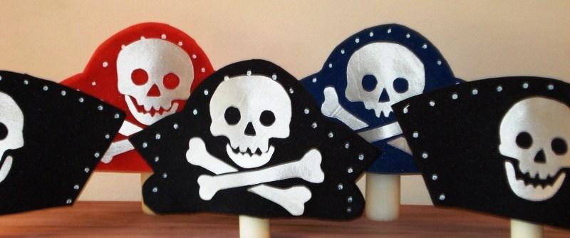 gorros de gomaespuma gorros piratas