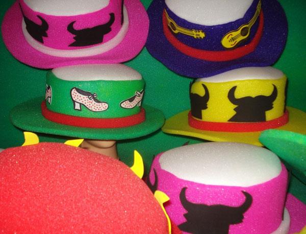gorros de gomaespuma sombrero cordobes evento flamenco