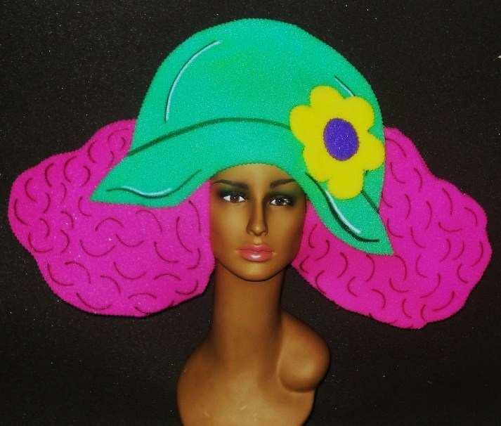 gorros de gomaespuma sombrero pelo