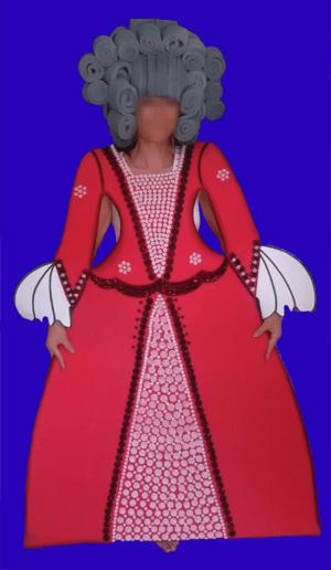 disfraz de siglo 17 mujer