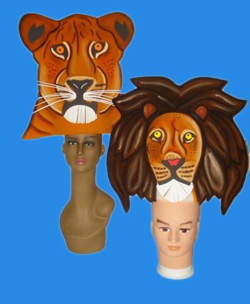 gorros de gomaespuma el rey leon musical leon y leonas