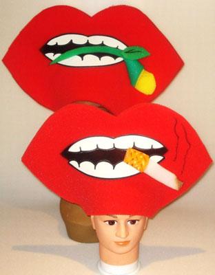 gorros de gomaespuma boca