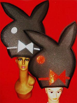gorros de gomaespuma conejos playboy