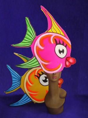 gorros de gomaespuma peces