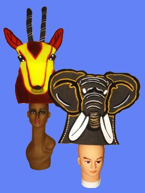 gorros de gomaespuma el rey leon disney ciervo y elefante africa