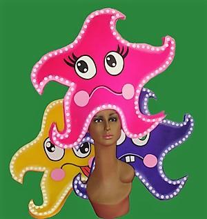 gorros de gomaespuma estrellas de mar