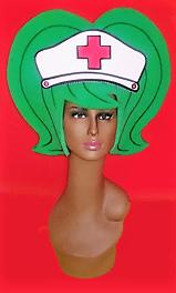 gorros de gomaespuma enfermera