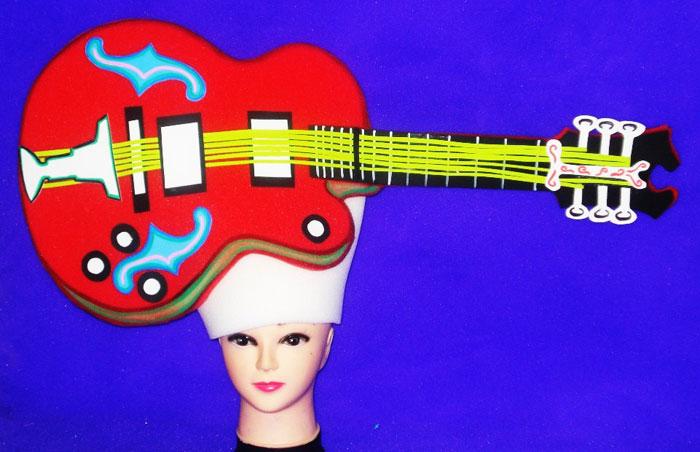 gorros de gomaespuma guitarra