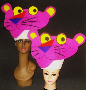 gorros de gomaespuma pantera rosa