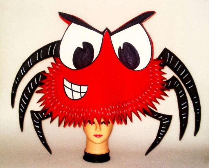 gorros de gomaespuma araña