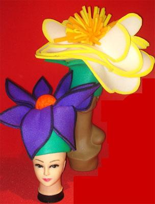 gorros de gomaespuma gorros flor