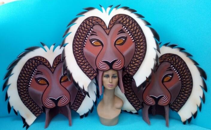 gorros de gomaespuma el rey leon musical simbas