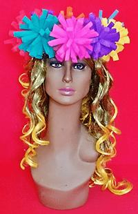 gorros de gomaespuma corona flores