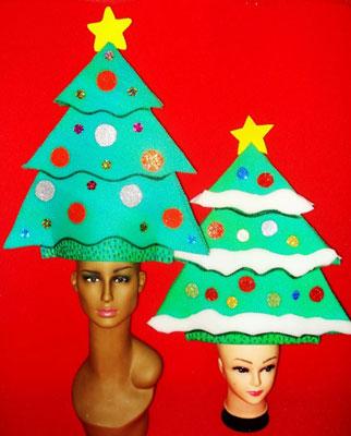 gorros de gomaespuma pinos navidad