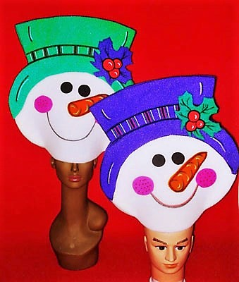 gorros de gomaespuma muñecos de nieve