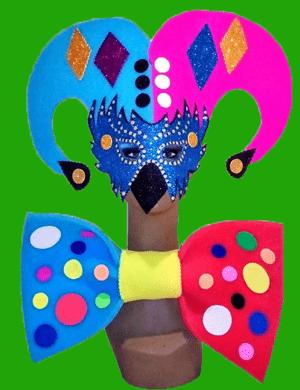 gorros de gomaespuma mascaras pajarita