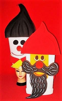 gorros de gomaespuma muñecos de navidad