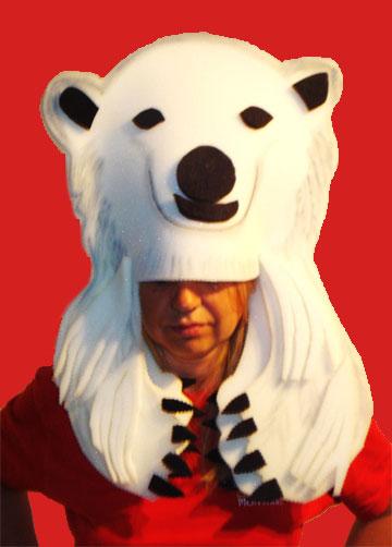gorros de gomaespuma oso polar