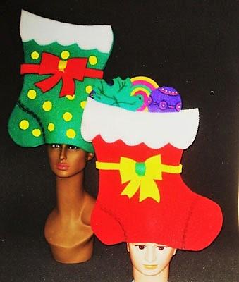 gorros de gomaespuma botas de navidad