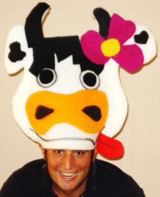 gorros de gomaespuma vaca