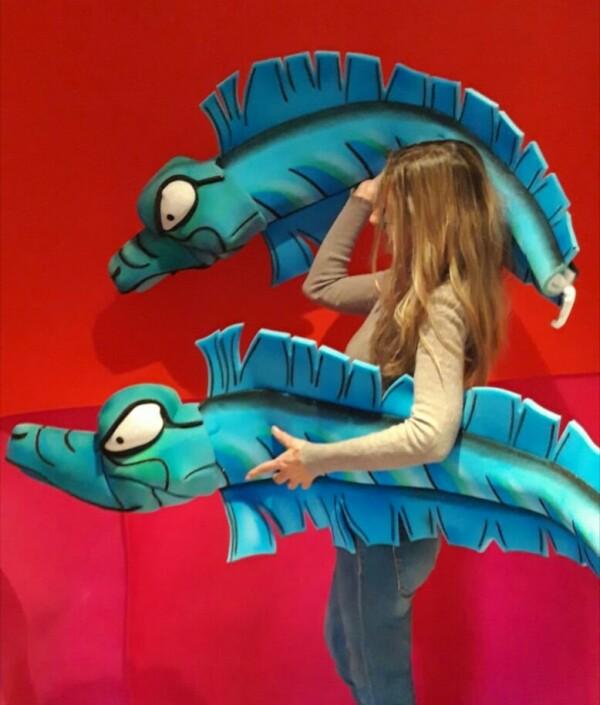 disfraz de anguilas