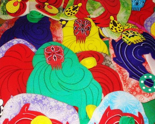 gorros de gomaespuma evento flamenco