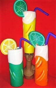gorros de gomaespuma refrescos