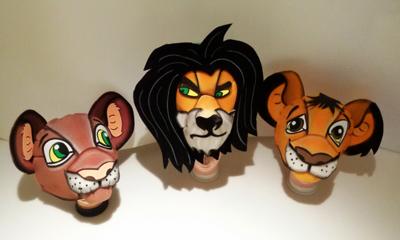 gorros de gomaespuma el rey leon disney simba nala y scar 3d