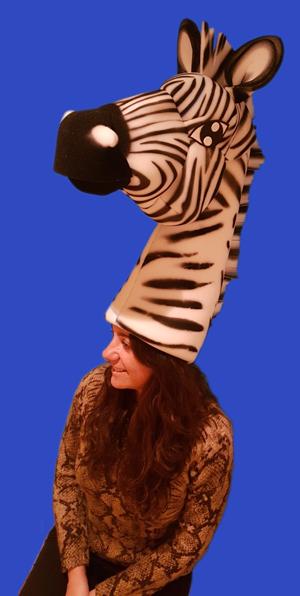 gorros de gomaespuma el rey leon cebra animal