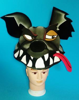 gorros de gomaespuma el rey leon musical hiena 3D