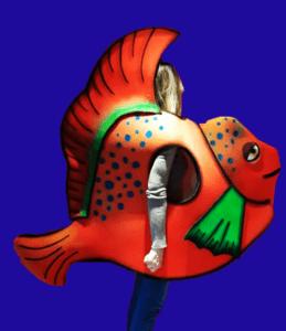 gorros de gomaespuma disfraz peces la sirenita