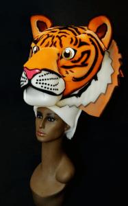 gorros de gomaespuma tigre