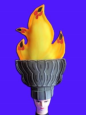 gorros de gomaespuma antorcha olimpica