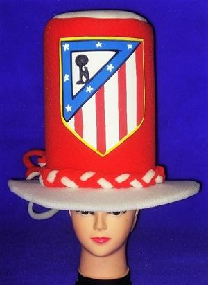 gorros de gomaespuma Atlético de Madrid